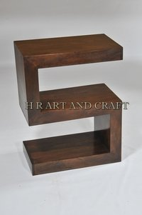 Wooden S Shape Display Unit