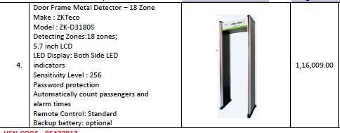 Door Frame Metal Detector Checkmate IIIS Single Zone
