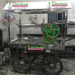 Sugarcane Juice Machine With Fourwheel Cart