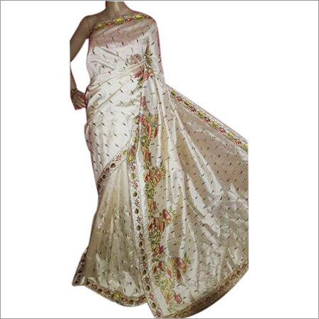 Ladies Embroidery Work Saree