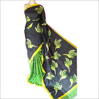 Ladies Hand Painted Pure Silk Saree