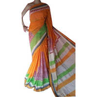 Ladies Block Printed Kerala Cotton Saree
