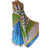 Ladies Designer Block Printed Kerala Cotton Saree