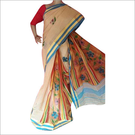 Ladies Pure Cotton Printed Saree