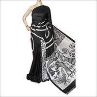 Ladies Designer Hand Painted Pure Silk Saree