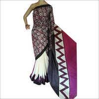 Ladies Cotton Silk Hand Block Printed Saree