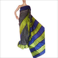 Silk Hand Block Printed Saree