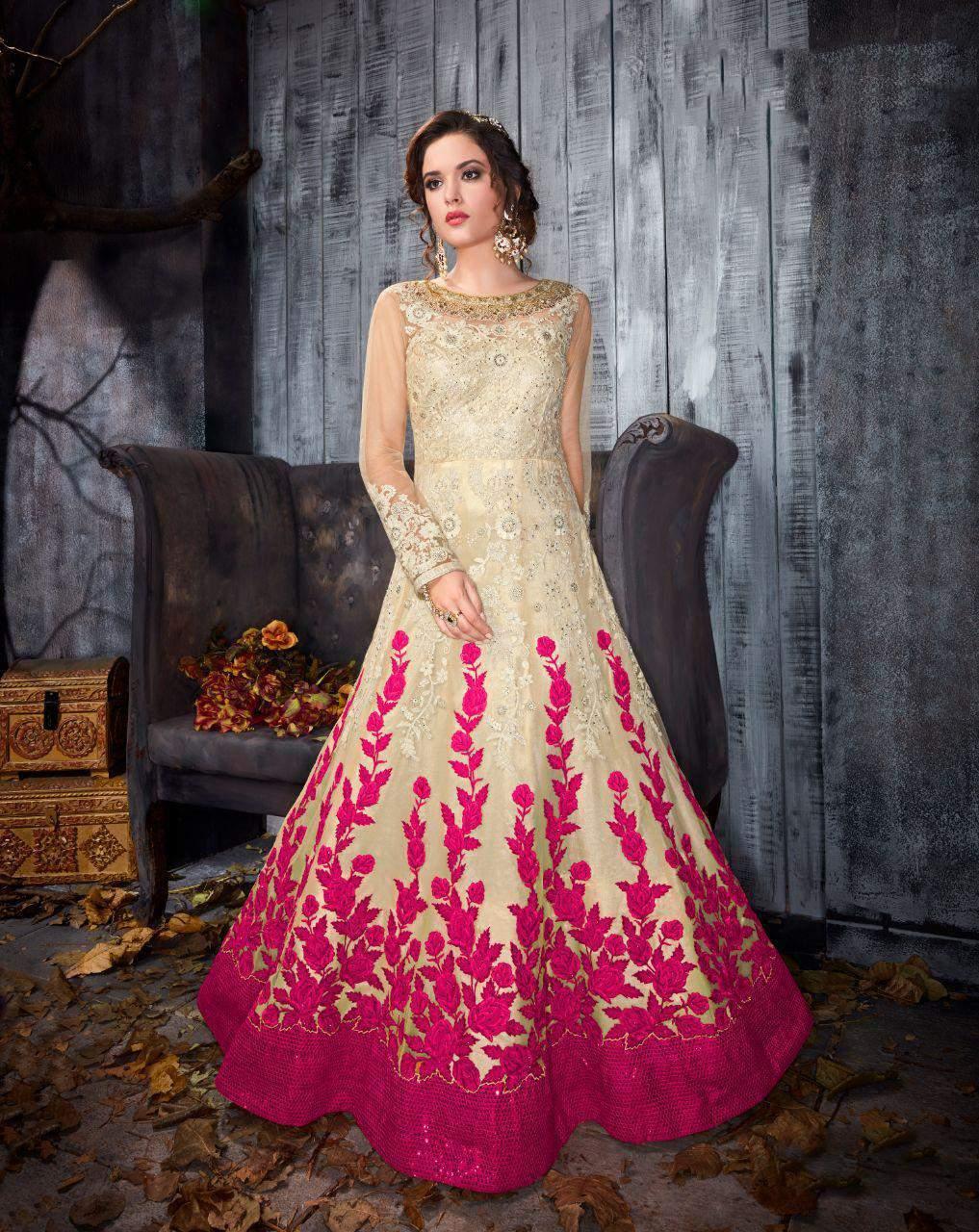 Heavy Bridal Anarkali 7001 B color catalog wholesale supplier