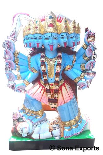Ten Handed Maa Kali Statue
