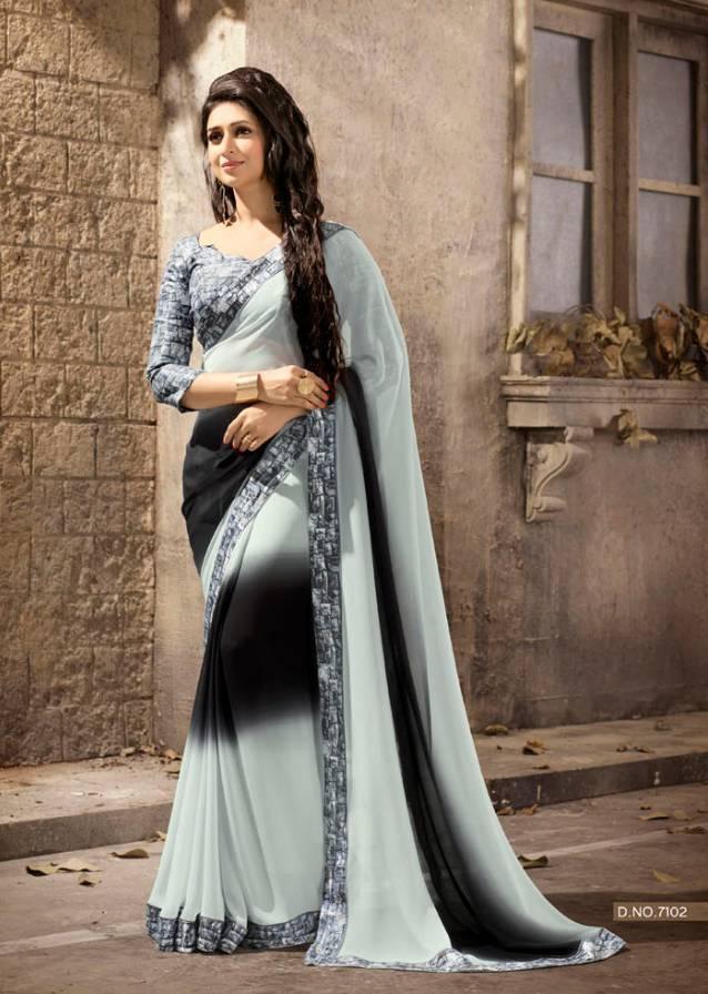 Sethnic Wholesale Pure Georgette printed saree catalog supplier