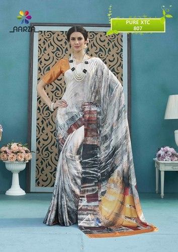 Printed Art Silk Saree (Pure XTC)