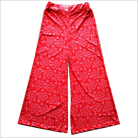 Ladies Red Floral Palazzo