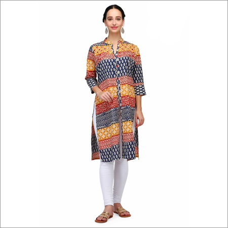 Front Slit Ladies Printed Kurti