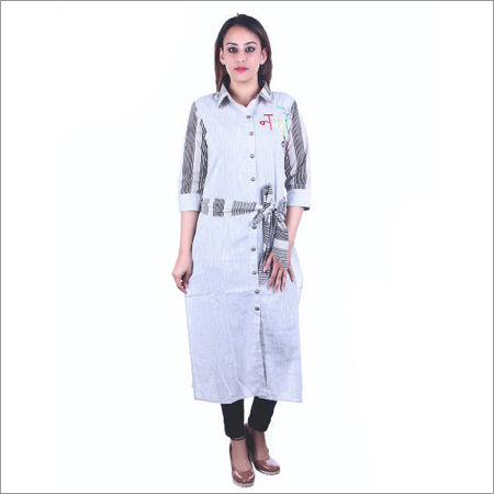 Ladies Shirt Style Kurti