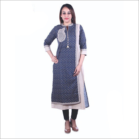 Ladies Black Georgette Kurti