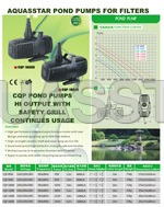 aquasstar pond pumps for filters