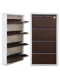 4 Door Jumbo Metalic Shoe Rack