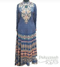 digital printed western dress
