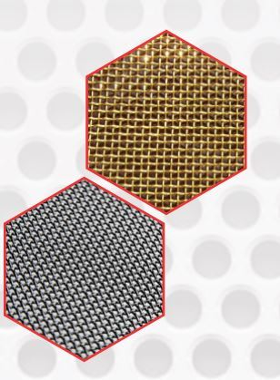 Wire mesh of brass & stainless steel 304