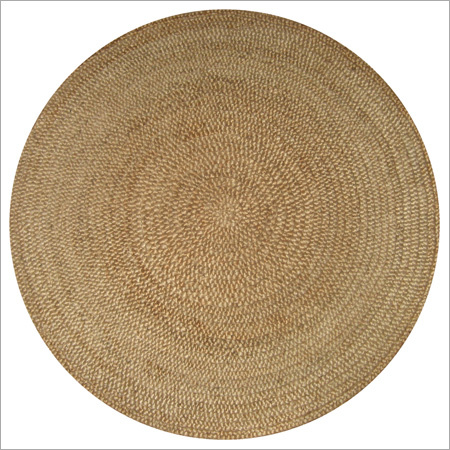 Handspun 3 Ply Gold Natural Round Rug