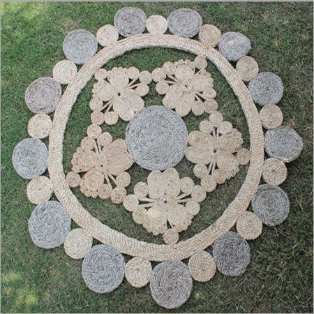Embroidered Jute Rug