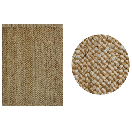 Golden Chunky Soft Braided Rectangle Rug