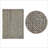 Silver Chunky Soft Braided Rectangular Rug