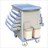 Emergency Drug Trolley Both Side Drawer