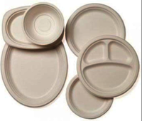 Semi automatic biodegradable food container plates making machine