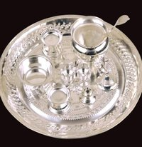 Silver Plated Bowl Set with Tray