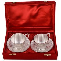 Silver Plated Cup and Saucer