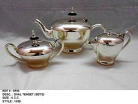 Designer Silver Plated Tea Set