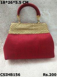 Raw Silk Handbag