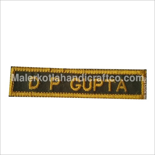 Military Embroidery Name Plate
