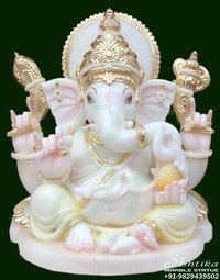 Marble Ganesh murti idol