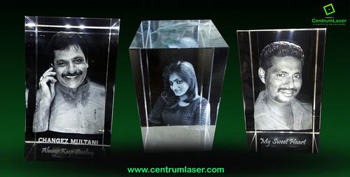 3D Personalised Crystal Cubes