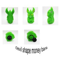 colorful gift money box in devil shape