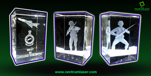 3d Crystal laser picture Engraving