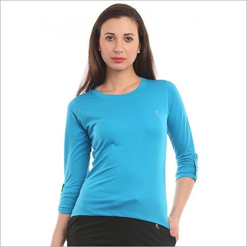 Round Neck Full Sleeve Girl T-shirt