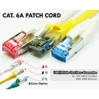 Cat6A 10G UTP 26AWG RJ45 Patch Cable With Clips