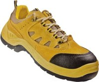 Leather Honey Safety Shoes with Dual Denity Protective Basic, Antistatic, NonMetal Composite Midsole