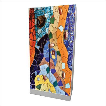 2 Door Mosaic Print Almirah