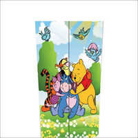 2 Door Cartoon Print Almirah