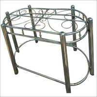 Steel Dining Table Capsule Shape
