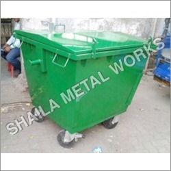 Garbage Bin 1100 Liter 4 Wheel Metal