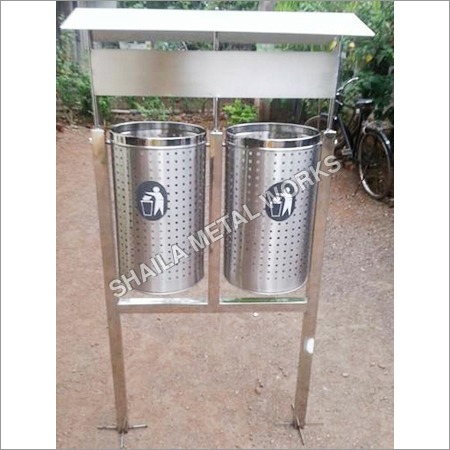 SS Dust Bin With Stand