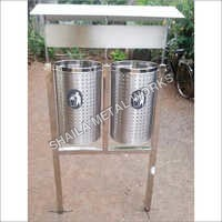 SS Garbage Bin With Stand