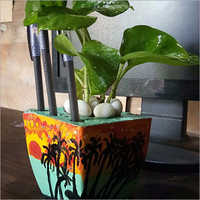 Customized Pot With Pen Stand