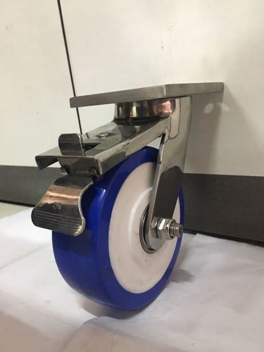 ANTISTATIC SS PU FABRICATED PU CASTOR WHEELS