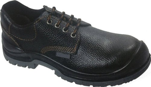 Leather Black Safety Shoes with Protective Basis and Antistatic, Non-Metal composite midsole, Steel Midsole, Oil Resistant, Protective Steel Toe